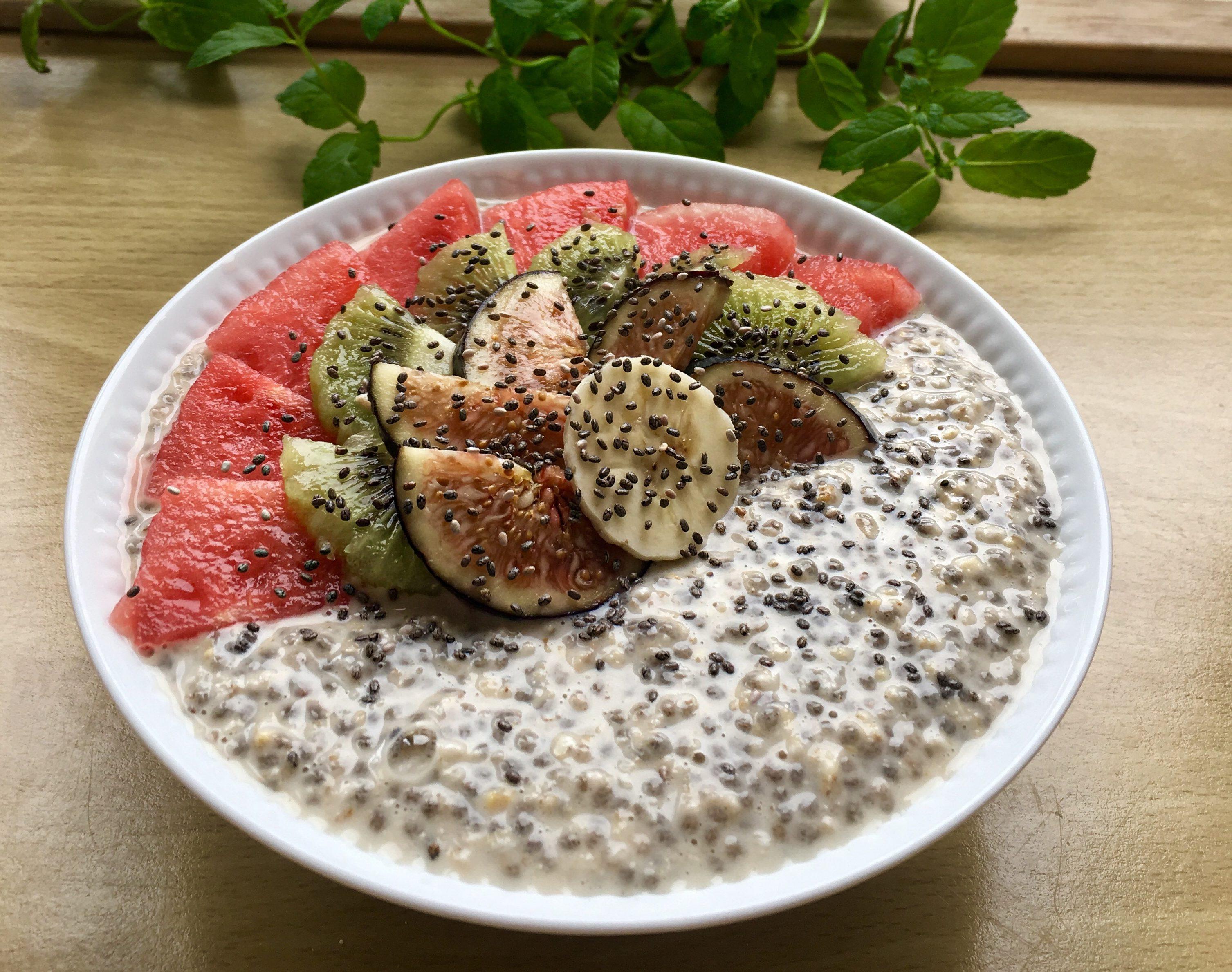 Chia-havregrød