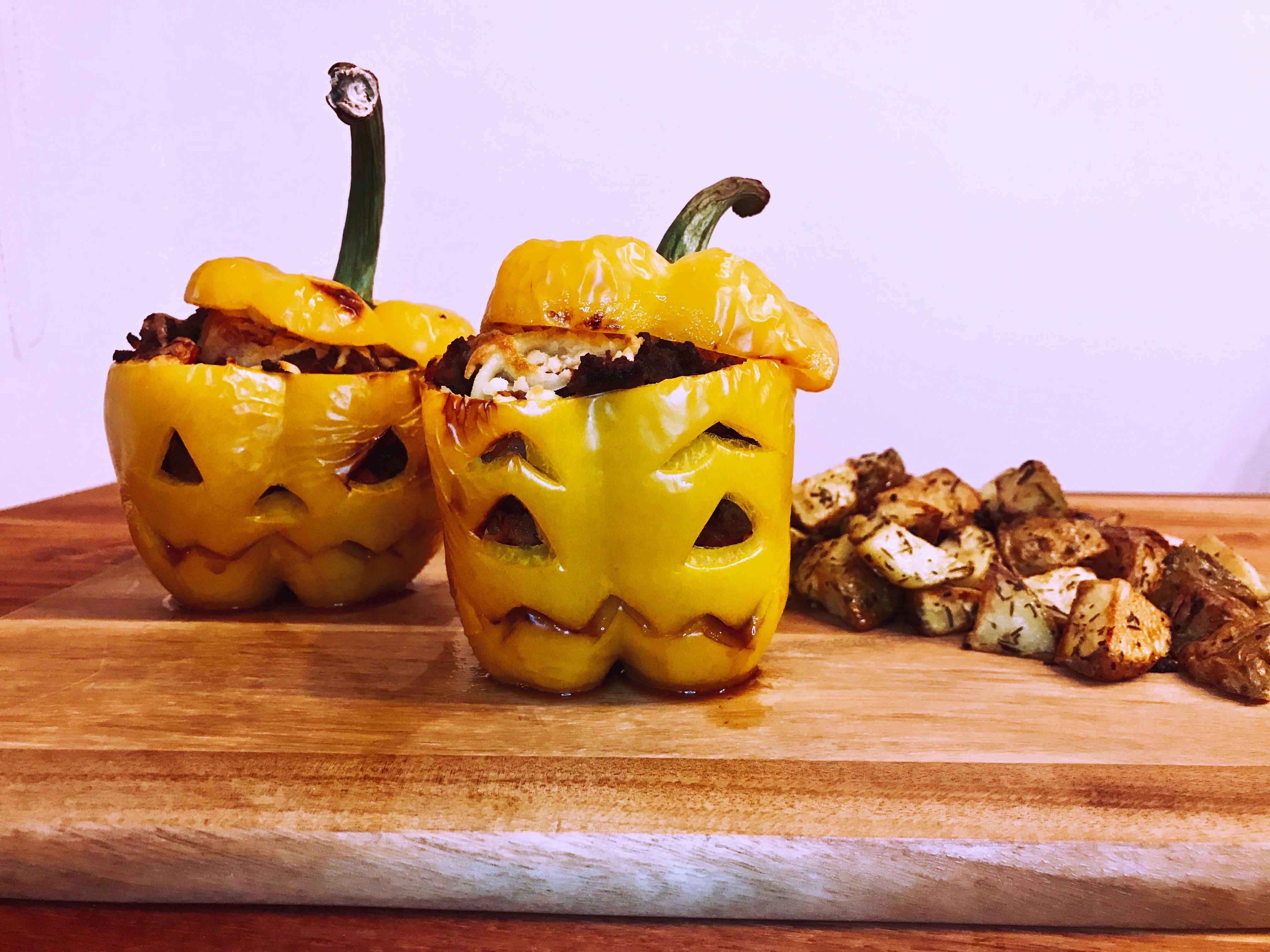 Fyldte peberfrugter – Halloween style