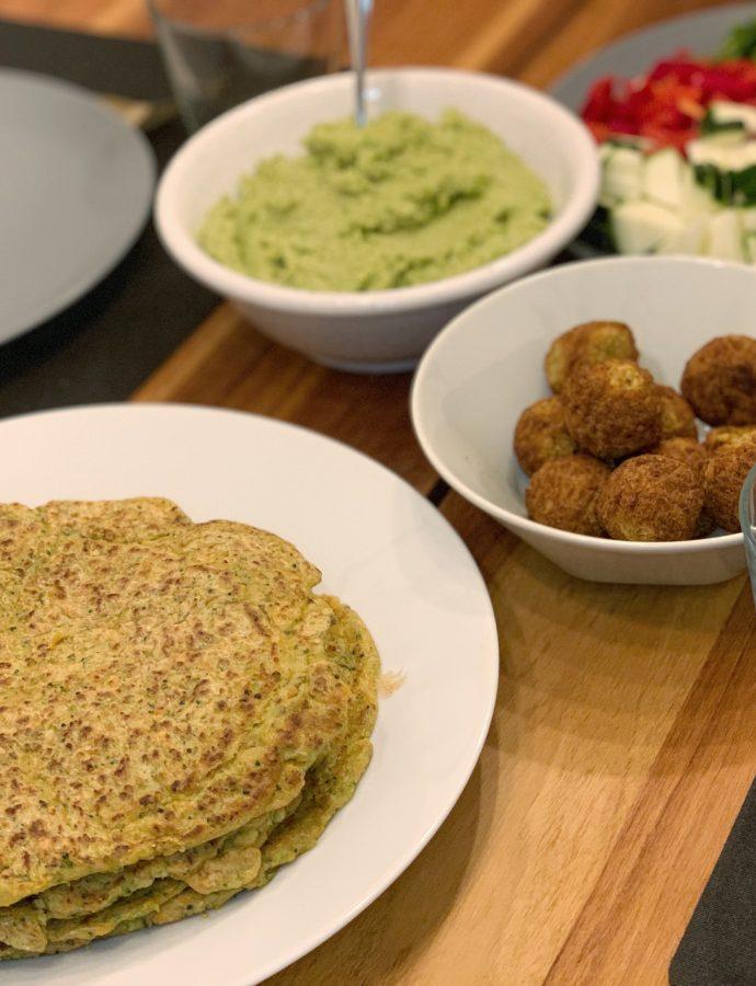 Veganske gulerod-broccoli pandekager