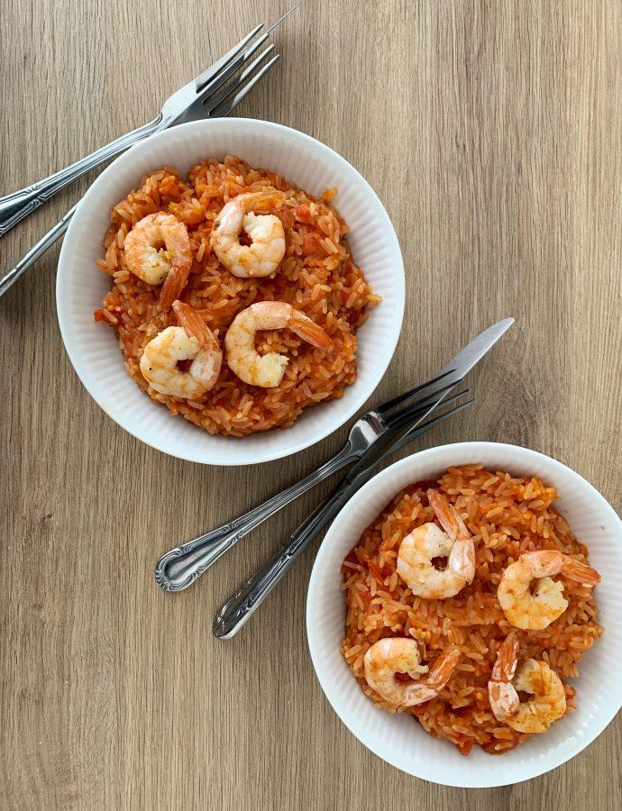 Spanske ris med rejer