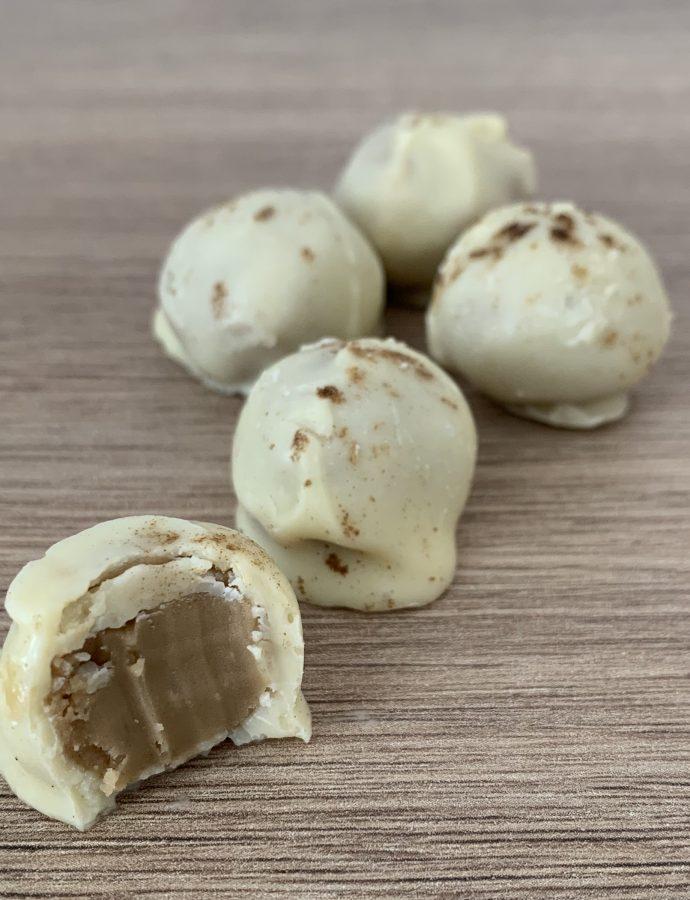 Hvid chokolade med lakridsganache
