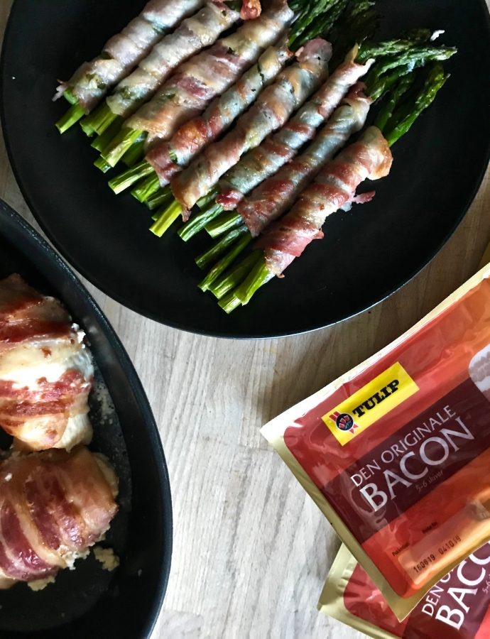 Asparges med bacon