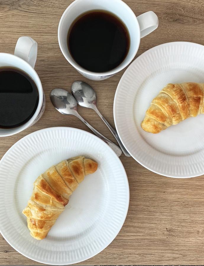 Croissant med marcipan eller nutella
