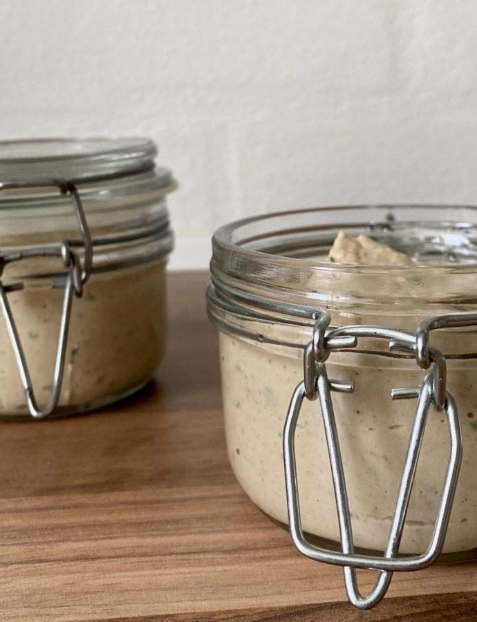 Bønnepålæg med champignon- vegansk smørepålæg