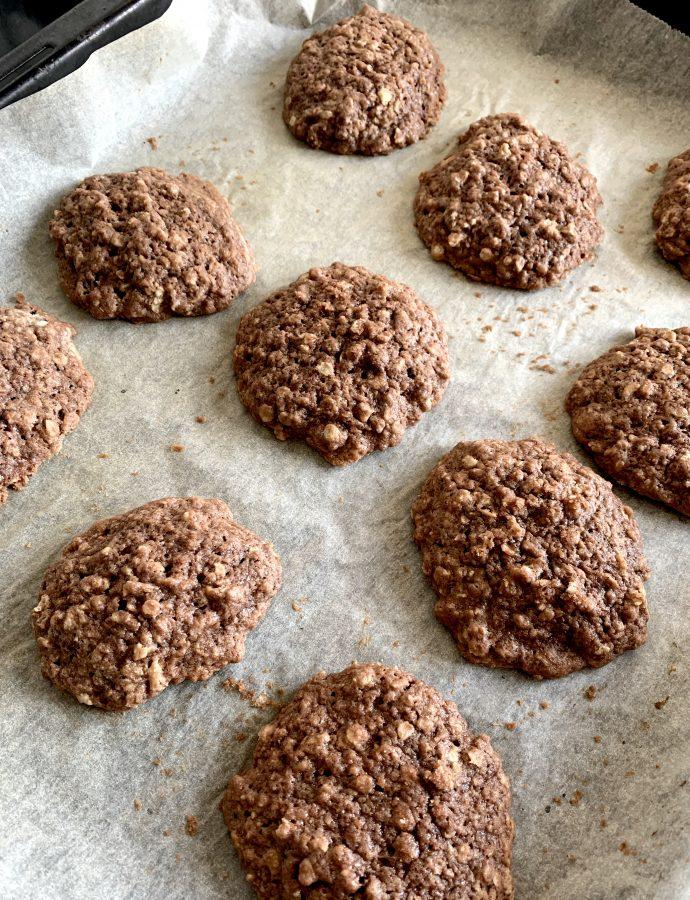 Cookies med kakao og havregryn