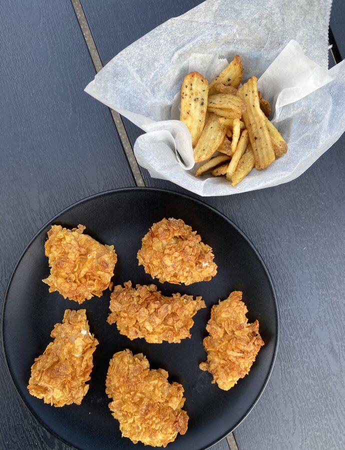 Crispy chicken – kylling med cornflakes