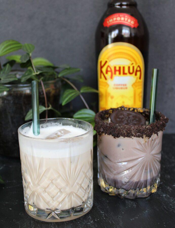 To varianter af White Russian – Peanutbutter og Oreo